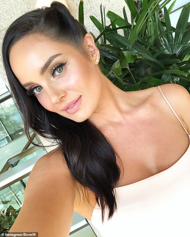 Last month, beauty buffs raved about the Benefit Roller Lash Mascara that offers long, luscious and thick lashes without using an eyelash curler (pictured: Chloe Morello)