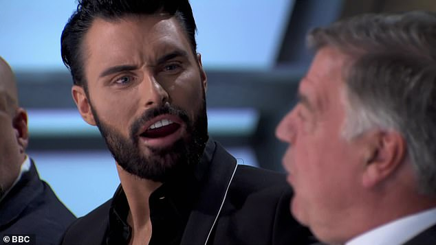 Crazy: Sam Allardyce and Rylan, who sniff each other, were one of the more surprising, surreal aspects of the episode