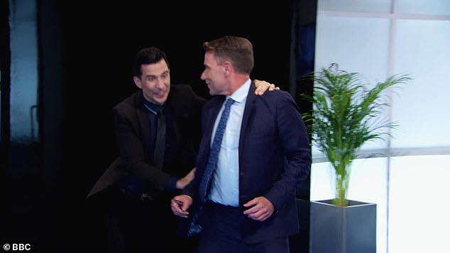 Short slip: Richard Arnold and Russell Kane dodged the last boardroom chip