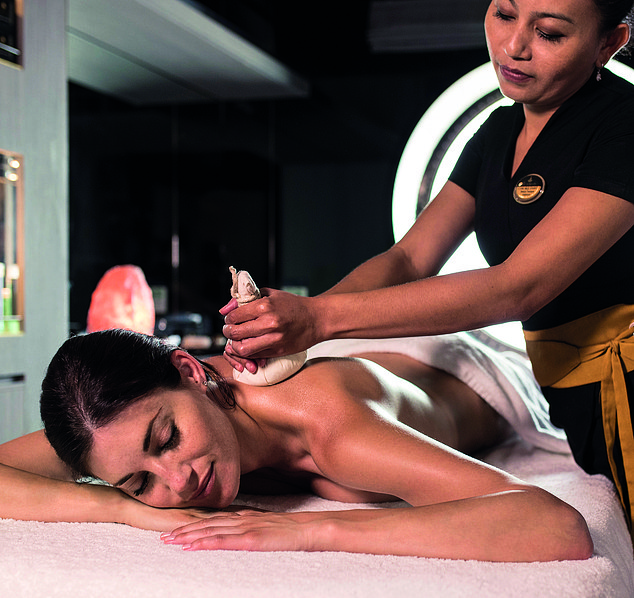 Passengers can enjoy a relaxing massage in one of ship's on-board spas