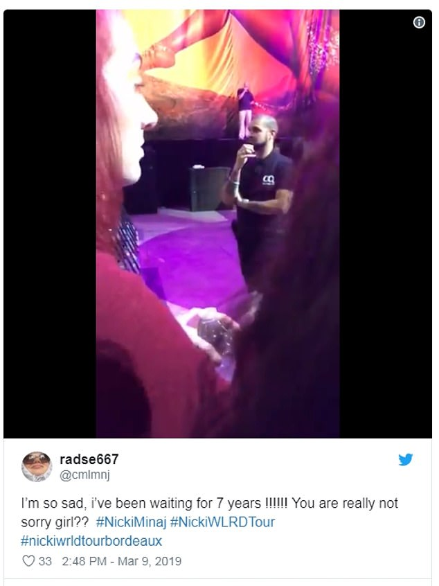 Canceled: Disappointed fans flocked to social media to post about the MIA rapper