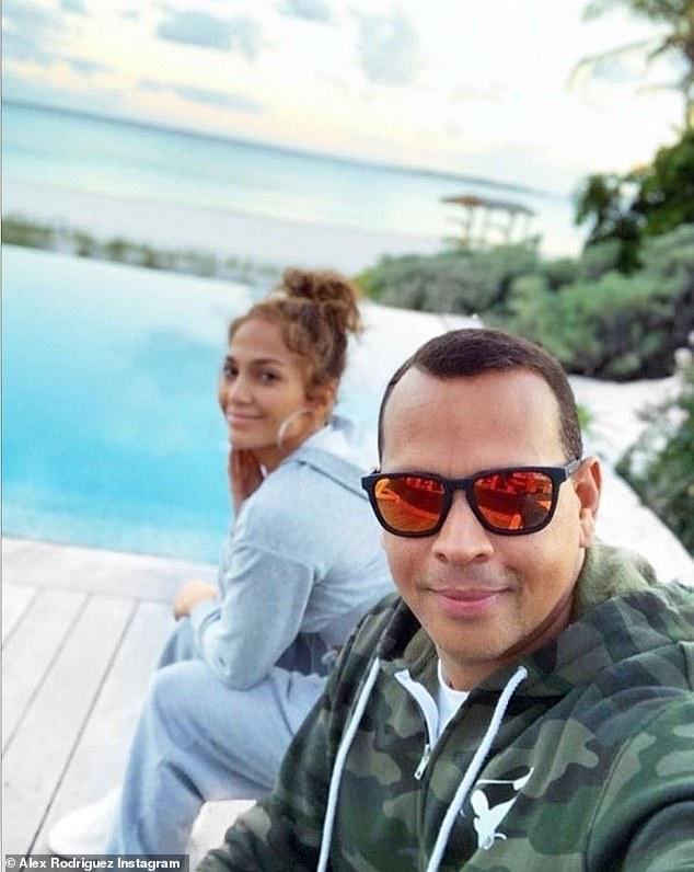 Sun-kissed: Rodriguez shared a snap from their current beach getaway