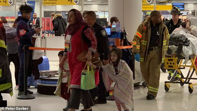 The majority of those injured were treated by the FDNY in the airport terminal, officials say