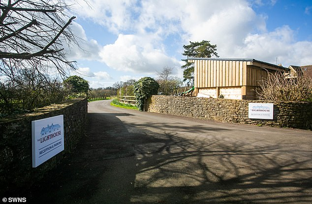 The cult, set up by a bankrupt former tennis coach in 1999, endorses vaginal and breast massage and burping as alternatives to modern medicine. Pictured: The entrance to its UK headquarters in Somerset