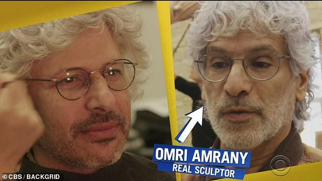 Haha: Comedian Maz Jobrani imitated real sculptor Omri Amrany for the prank