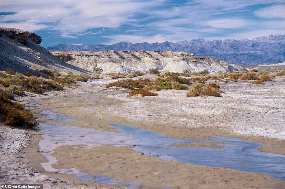 The death Valley along Salt Creek pictured above, notably dryer than it appears today