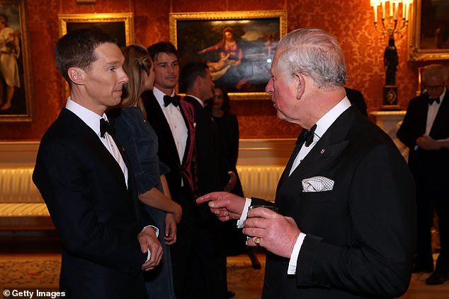 Listening to every word!Benedict Cumberbatch spoke with Prince Charles, Prince of Wales