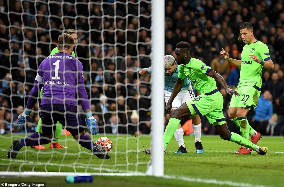 Sergio Aguero struck moments after his opener, to add his and City's second and give the hosts breathing space