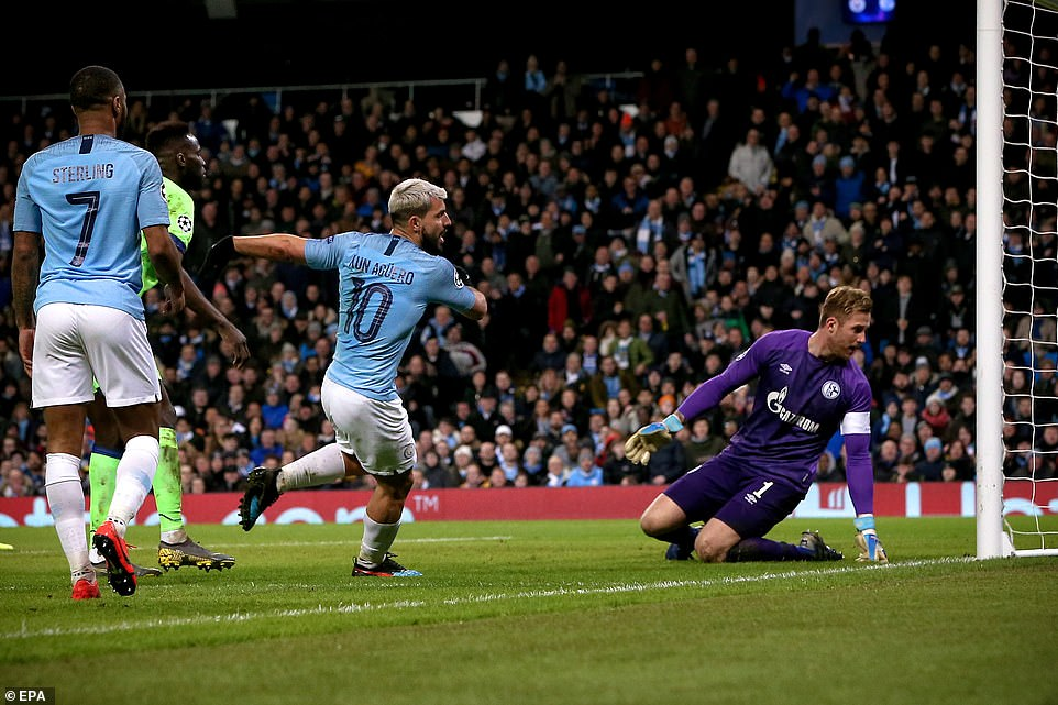 The ruthless striker bagged from close range to double City's lead in the early stages of the first half