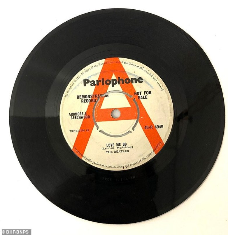 Super rare promo copy of the historic first Beatles single - the humble 45 inch single is already at £3000 on Ebay