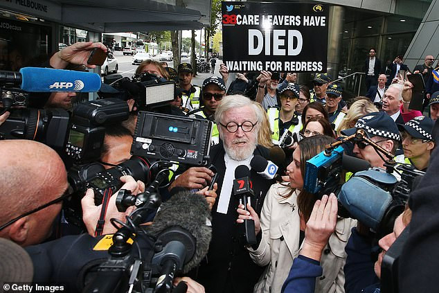 Pell's barrister Robert Richter, QC, spent much of the hearing stroking his beard and staring directly at the bench in front of him