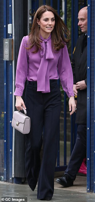 The Duchess of Cambridge leaving the children's centre today
