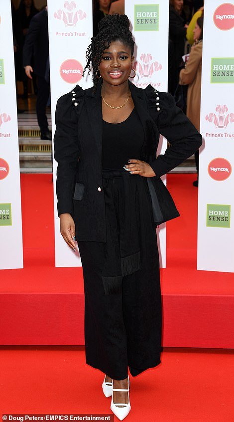 Edgy: radio DJ Clara Amfo looking incredible in a military style jacket