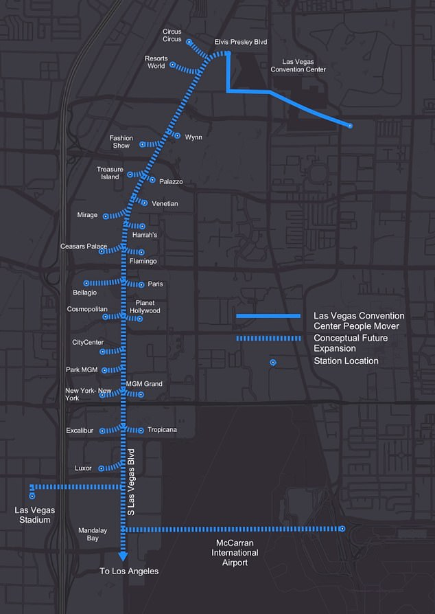 Elon Musk Says Boring Cos Las Vegas People Mover Tunnel