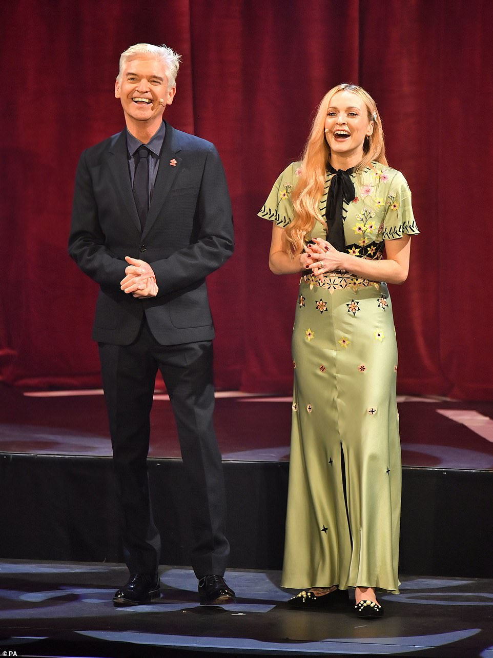 Hosts: Philip Schofield and Ferne Cotton hosted the awards at the Palladium