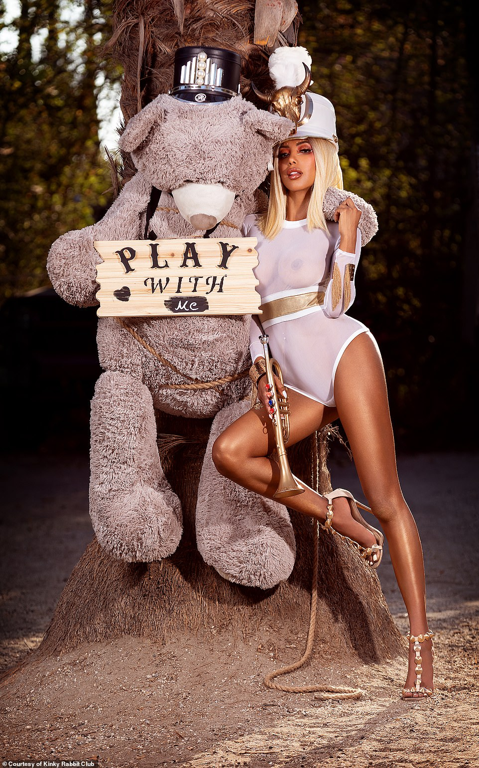 This tantalizing photo invites guests willing to pay up to $5,000 to come 'play' at one of the exclusive sex events