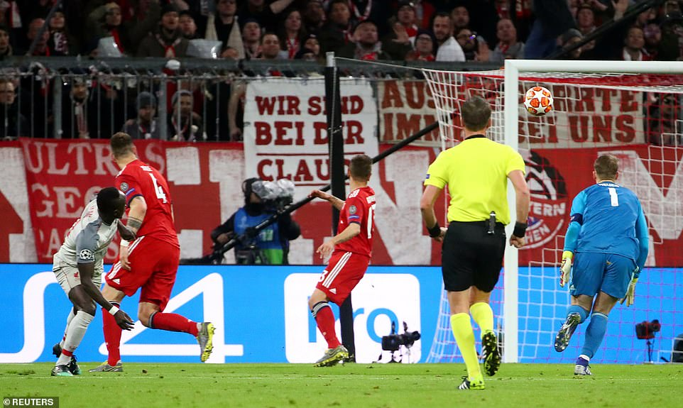 Mane, who was sent through on goal by Van Dijk, had the awareness to turn the German goalkeeper at the top of the box