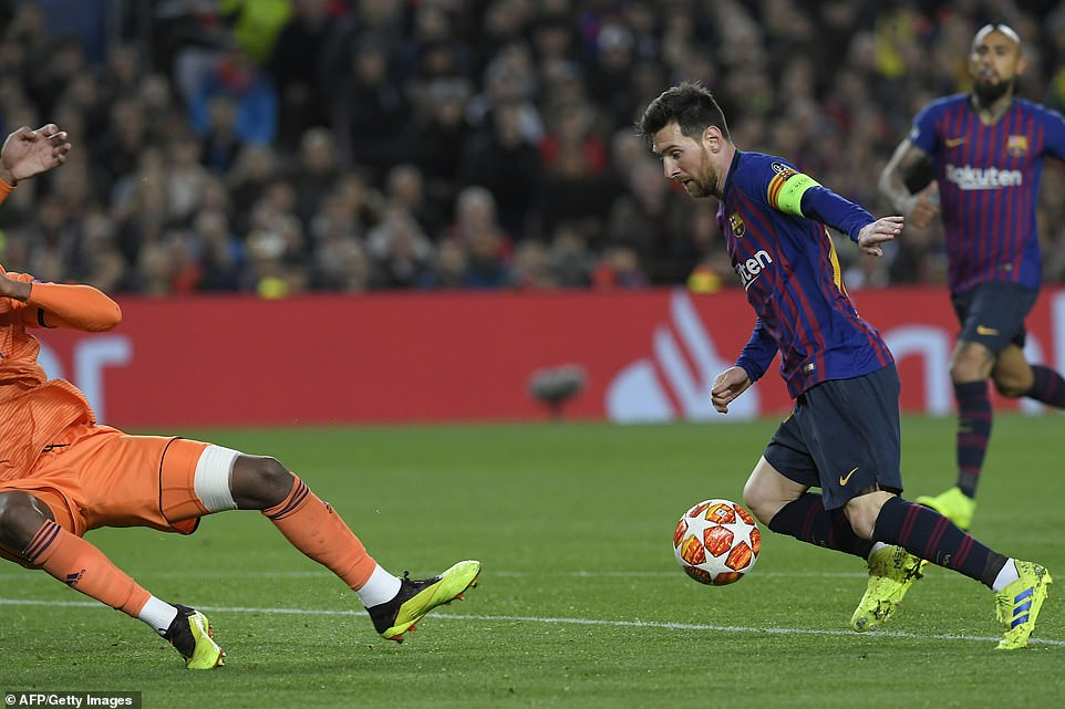 Star man Messi put Barcelona back into a comfortable position with a superb individual goal, scoring after a mazy dribble