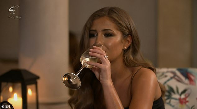 Bottoms up:After the date, Georgia and Nathan were seen heading off for more drinks, without a film crew following them, proving Georgia's tactics were improving