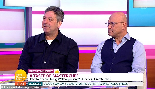 Exciting:During his joint appearance with co-judge Gregg Wallace, the MasterChef star, 53, also teased viewers with details about the competition series' quarter-finals, which will see contestants get their first taste of professional cooking at Ella Canta