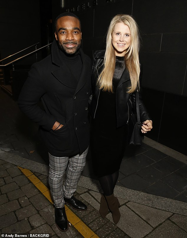 Happy days: Strictly winnerOre Oduba was joined by his partnerPortia