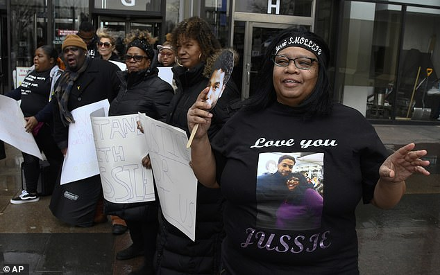 There were lines of fans outside the court who shouted 'Justice for Jussie' as he made his way inside