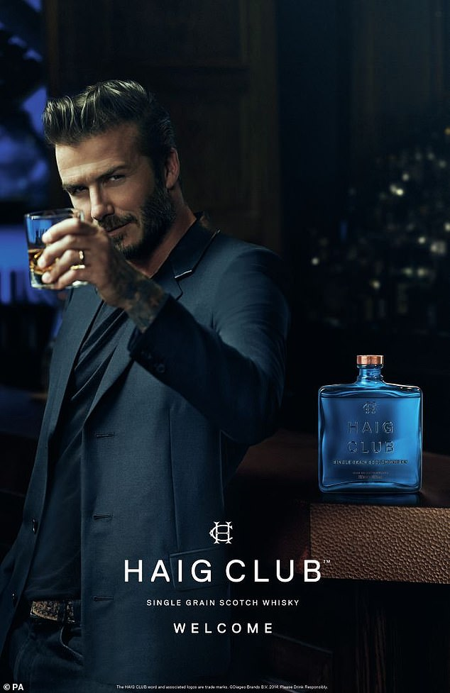 David Beckham has a string of endorsement deals, including his own whisky with Haig Club