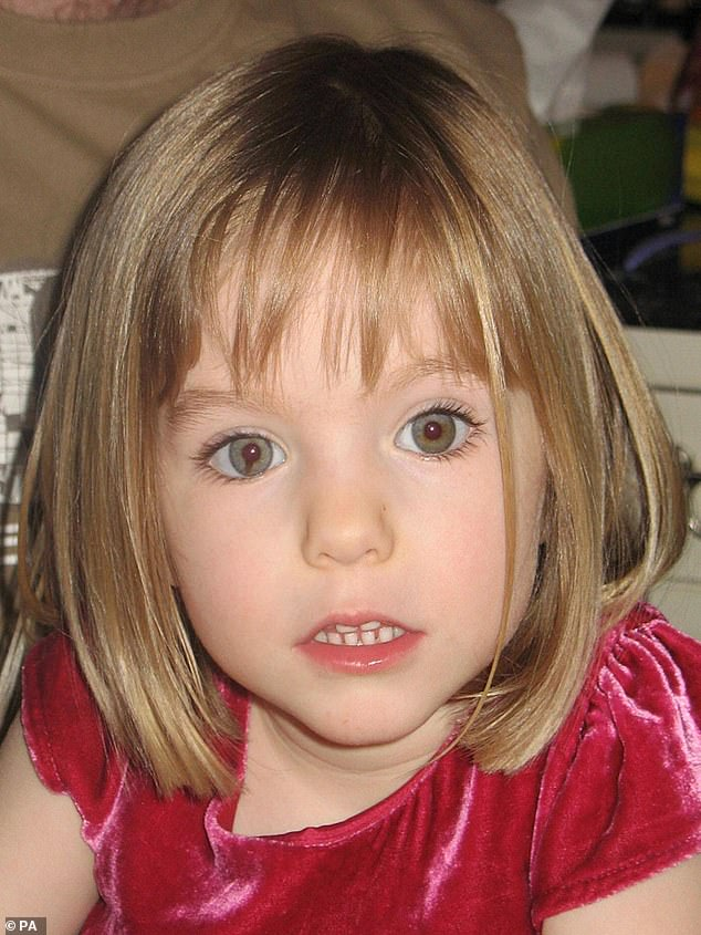 Photo of missing Madeleine McCann who vanished from Praia da Luz in Portugal in May 2007