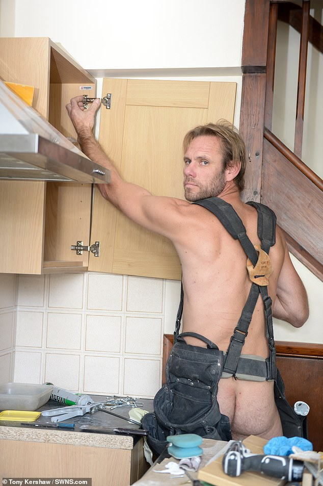 Rob Jenner, pictured here renovating his house, has been jailed for two years