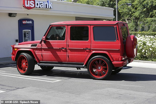 Cherry red: The car has undergone several paint jobs, including this striking shade