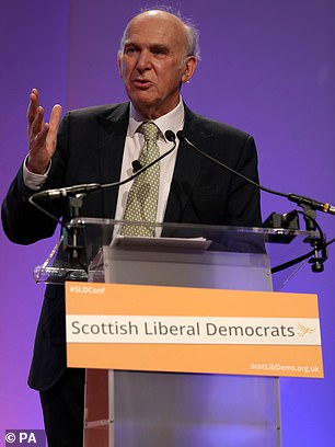 Liberal Democrat leader Sir Vince Cable will step down in May