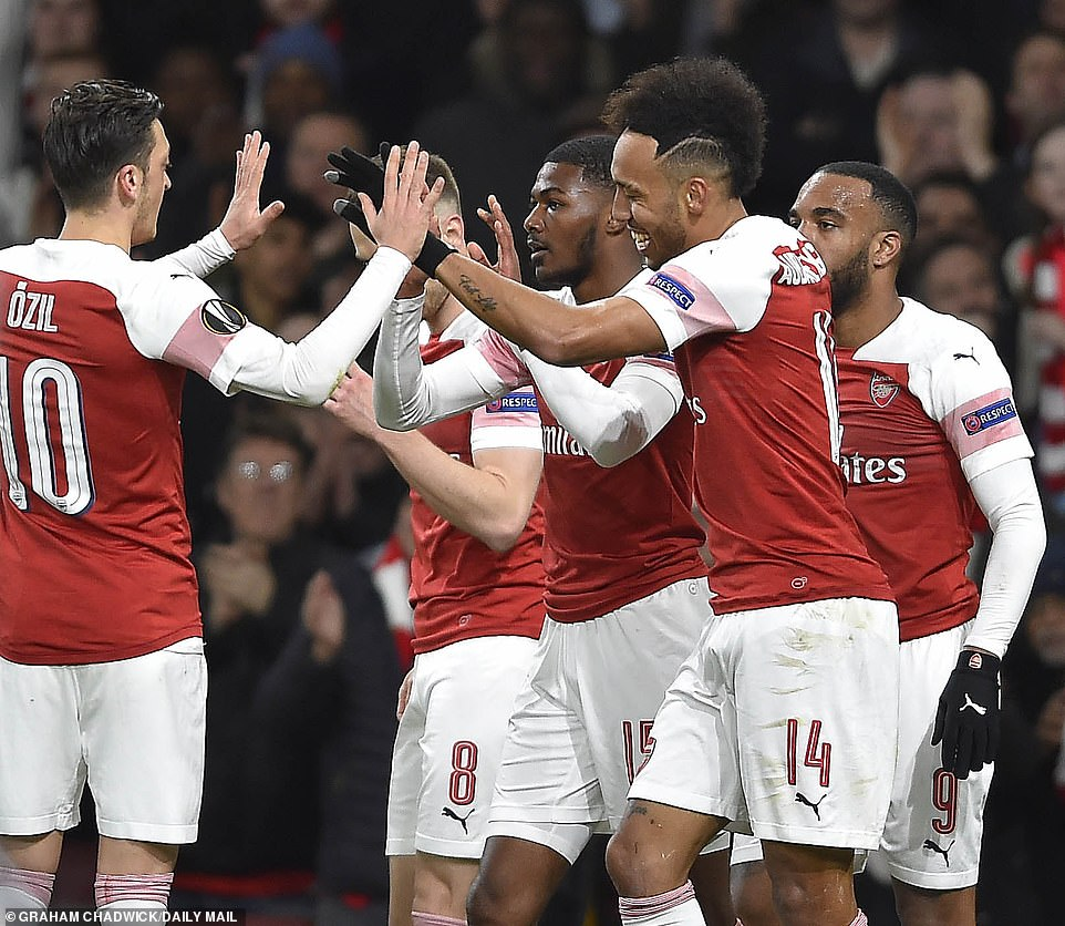 It was an important goal in the tie as it meant that Arsenal were now in front against their French opposition