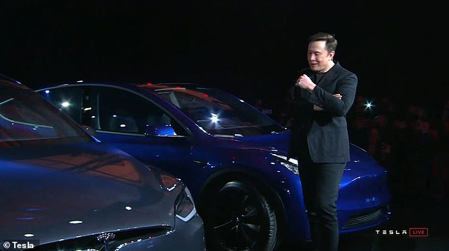 As he ran through the details, Musk said that the Model Y will have the 'functionality of an SUV' but 'will ride like a sports car'