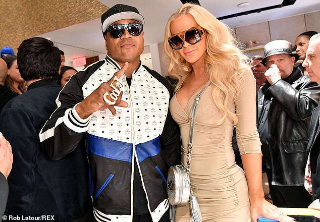 Matching shades: YouTuber Gigi Gorgeous stopped to rub elbows with LL Cool J and Paris Hilton and the star-studded event