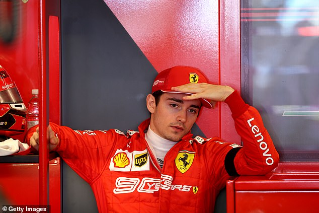 Leclerc was 0.074 seconds behind Hamilton in third but ahead of the Red Bull drivers
