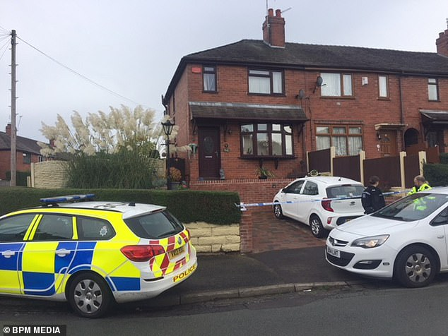 Police arrived at Ms Morris's home, pictured, after a member of the public found Goodwin's body in nearby woodland
