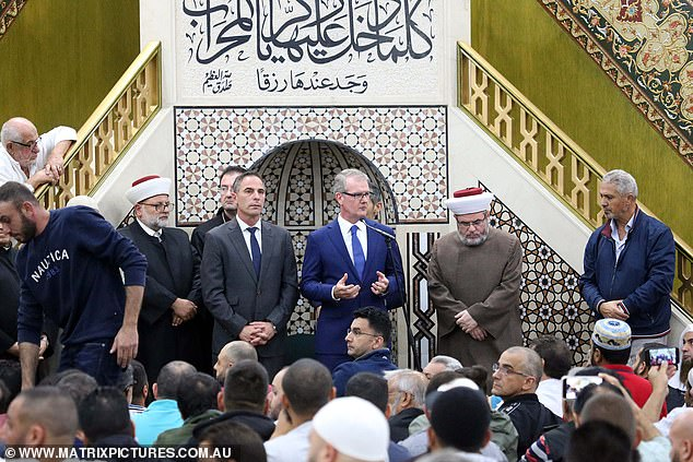 The prayers come just hours after the horrific Christchurch terrorist attack. The mood at the Lakemba mosque was sombre yet resilient