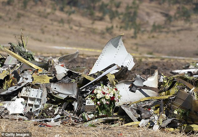 A screw-shaped device found in the wreckage of the Ethiopian airline's flight was pointed down, indicating that the aircraft was set to