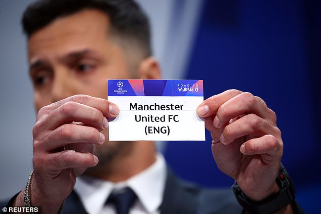 Julio Cesar, conducting the draw in Nyon, pulls out Manchester United to face Barcelona