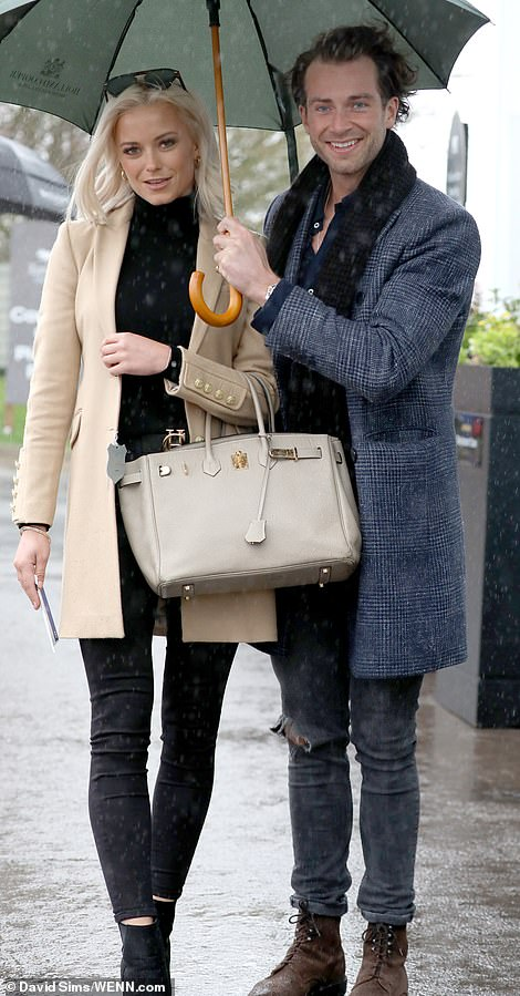 Made in Chelsea stars Liv Bentley and Digby Edgley arrive at Cheltenham