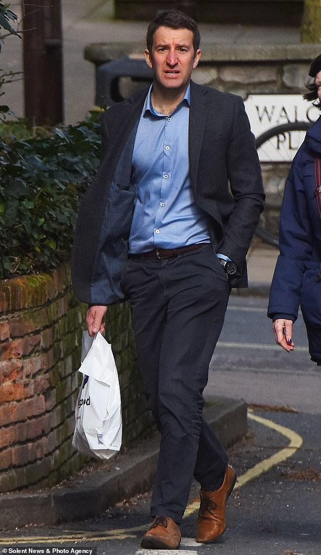 Michael Colebourn devant le Crown Court de Winchester le 11 mars