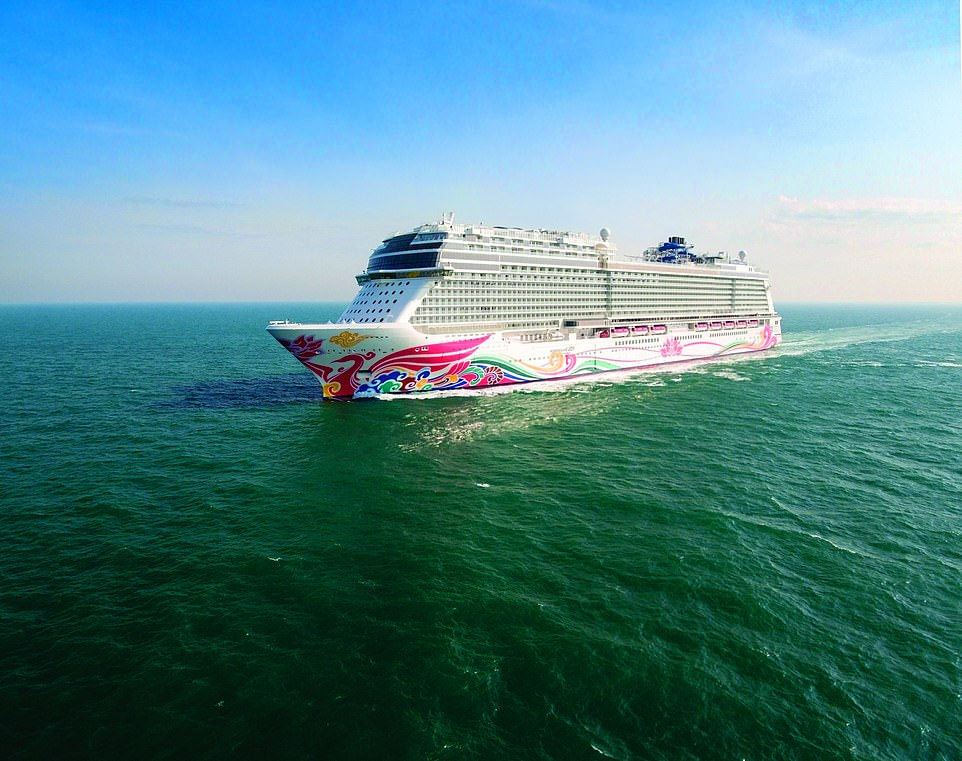 For the next four weeks, anyone in the US or Canada can nominate their favourite teacher to win a cruise on the Norwegian Joy (pictured) - and it's not regarded as cheating for teachers to nominate themselves