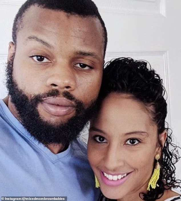 Expectations: Jazmyne (pictured with husband Desmond) said 'the bar is set so low for fathers' in terms of what is expected from them in comparison of what is expected of mothers