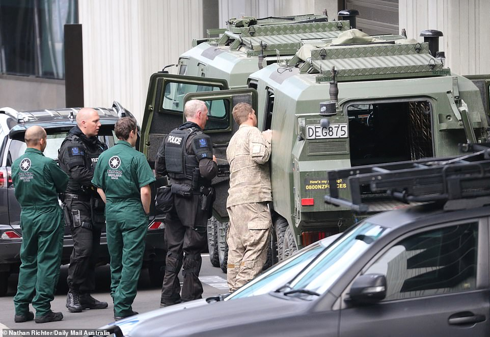 With hundreds of people gathering at Christchurch District Court, a heavy police presence was required - including armoured vehicles