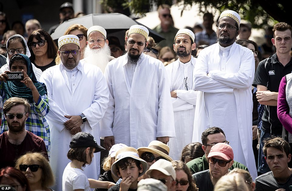 Members of the Muslim community marched through Auckland ahead of a vigil for the 49 people killed in Christchurch