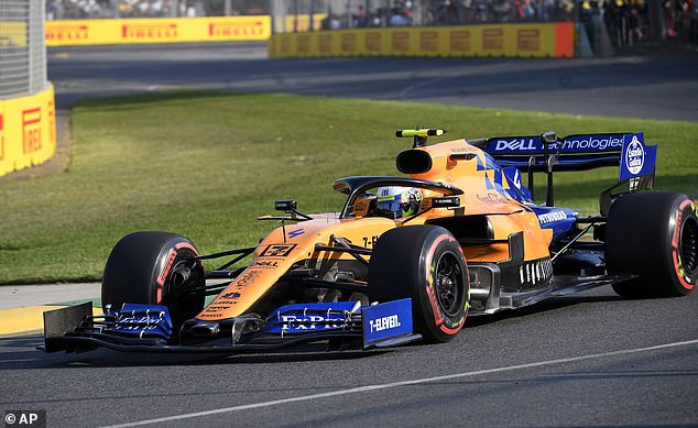 Norris (above) out-qualified his more experienced team-mate Carlos Sainz on Saturday