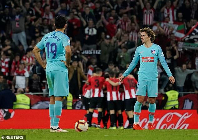 Athletic Bilbao damaged Atletico Madrid's faint La Liga title hopes with a 2-0 win