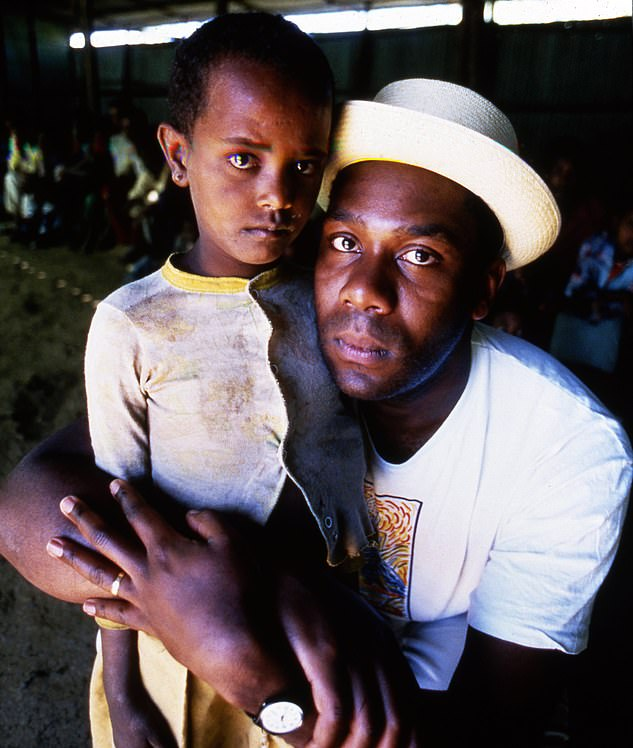 Appeal: Lenny Henry famously recorded a film in Ethiopia for the first Red Nose Day in 1988 (shown)