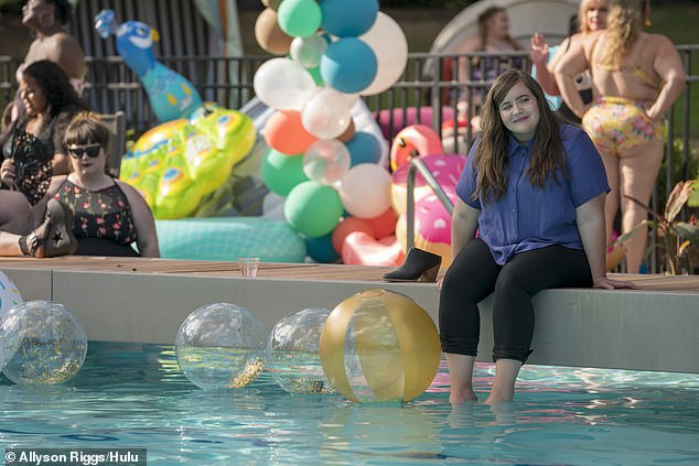 Back to normal: 'Dan and I patched it up immediately and so there's no conflict, but it's funny that I'm answering questions about it,' she told Page Six on Wednesday; still from Shrill