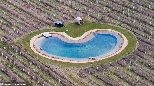 The star has already upset neighbours who fear a new 'wildlife pond' he has had built on the Suffolk estate will actually be used as a swimming pool